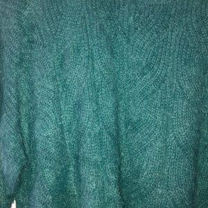 Band of Gypsies Sweaters - Enchante Pine Crew Neck Sweater